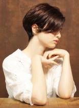 綺麗シルエットショート(髪型ショートヘア)