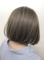 艶髪アッシュ☆シャーベットアッシュ(髪型ボブ)