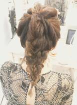 スッキリ編み込みアレンジ(髪型セミロング)