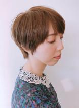 チークラインショート(髪型ショートヘア)