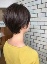 30代・40代◎後頭部ふんわりショート(髪型ショートヘア)
