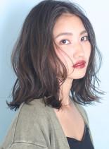 ニュアンスウェーブ◇大人ロブ(髪型ミディアム)