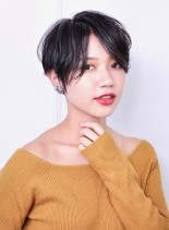 大人可愛い☆小顔マッシュショート(髪型ショートヘア)