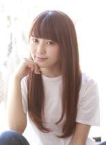 髪質改善×ナチュラルストレート(髪型ロング)