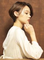 耳かけクールショート(髪型ショートヘア)