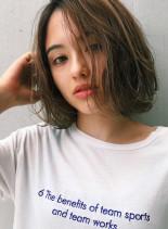 抜け感ハイライトボブ(髪型ボブ)