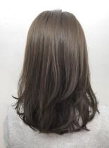 艶髪☆ヌードグレージュ(髪型セミロング)
