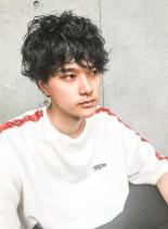 クラウドマッシュパーマスタイル☆(髪型メンズ)