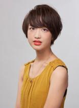 ふんわり柔らかショート(髪型ショートヘア)