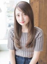 安室奈美恵さん風フェザーロングストレート(髪型ロング)