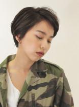 スッキリ丸みショートヘア(髪型ショートヘア)
