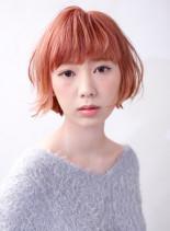 ハイトーンショートボブ(髪型ショートヘア)