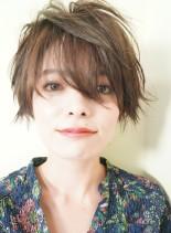 シースルー大人ショート(髪型ショートヘア)
