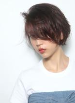 大人のアンニュイショートボブ(髪型ショートヘア)