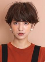 大人のふんわりショート☆ワンカールパーマ(髪型ショートヘア)