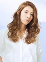 かきあげロングレイヤー(髪型ロング)