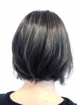 3Dカラー シルバーアッシュ(髪型ボブ)