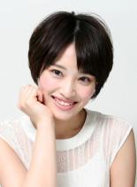 小顔小頭×ナチュラル×ショート(髪型ショートヘア)