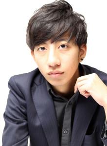 前髪ストレート×黒髪×メンズショート(ビューティーナビ)