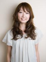 シフォンレイヤーロング(髪型ロング)