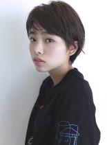 ナチュラルウェットショート(髪型ショートヘア)
