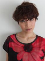 無造作ショート(髪型ショートヘア)