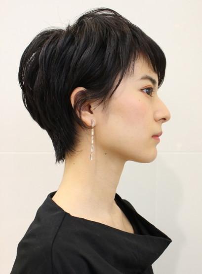 黒髪ベリーショート(髪型ベリーショート)
