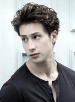 ロバート・ダウニー・Jr風パーマ(髪型メンズ)