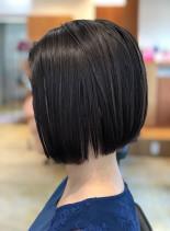 大人女性の為の切りっぱなしボブ/30代(髪型ボブ)