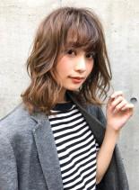 オリジナルレイヤー×くしゅっとウェーブ(髪型ミディアム)