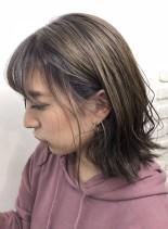 ラベンダーアッシュ☆ダブルカラー(髪型ボブ)