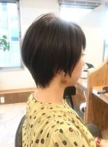 30代・40代◎後頭部ボリュームショート(髪型ショートヘア)