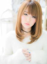 ぷるるんツヤ色ワンカール(髪型ミディアム)