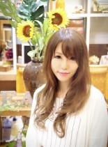ラベンダーアッシュ艶髪ヘアー(髪型ロング)
