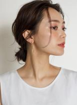大人のサクッとローシニヨン☆(髪型ミディアム)