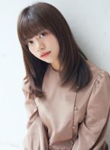 抜け感★ナチュラルセミロング(髪型セミロング)