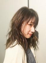 クリアベージュセミディ(髪型セミロング)
