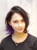 インナーカラー&アディクシーカラー(髪型ボブ)
