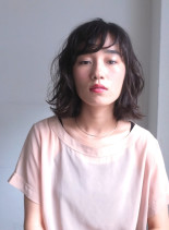 ヌーディーウェットボブ(髪型ボブ)
