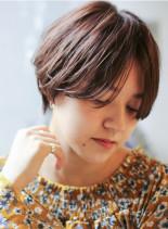 カジュアルショートマッシュ(髪型ショートヘア)
