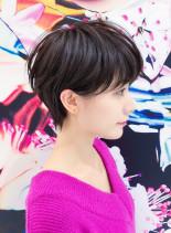 シルエット美人ショート(髪型ショートヘア)