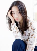 【大人かわいい】暗髪×ワンカールパーマ(髪型セミロング)