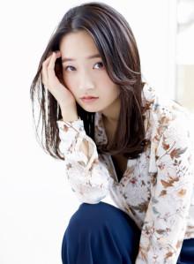 【大人かわいい】暗髪×ワンカールパーマ