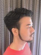 オーランドブルーム風パーマ(髪型メンズ)
