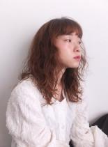 揺らぎカール(髪型セミロング)