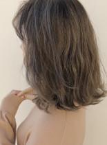 ハイライトで作る透明感カラー(髪型ボブ)