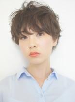 40代大人世代のショートパーマ(髪型ショートヘア)