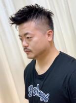スキンフェードカジュアルスタイル(髪型メンズ)
