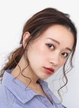 簡単なのにオシャレ☆大人ローポニーテール(髪型セミロング)