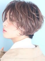 大人の小顔パーマショートボブ☆(髪型ショートヘア)